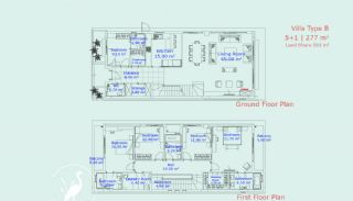 Detached Villas with Biological Swimming Pool in Antalya, Property Plans-3
