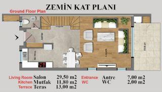 Eye-Catching Duplex Villas in a Luxury Complex of Antalya, Property Plans-4