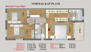 Eye-Catching Duplex Villas in a Luxury Complex of Antalya, Property Plans-5