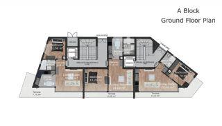 Güzeloba Mahallesinde Satılık Sıfır ve Modern Daireler, Kat Planları-1