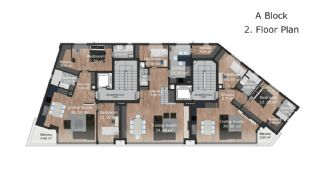 Güzeloba Mahallesinde Satılık Sıfır ve Modern Daireler, Kat Planları-3
