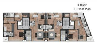 Güzeloba Mahallesinde Satılık Sıfır ve Modern Daireler, Kat Planları-6