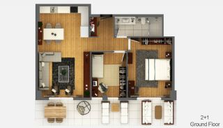Boutique Concept Smart Homes in Antalya Turkey, Property Plans-2