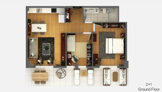 Boutique Concept Smart Homes in Antalya Turkey, Property Plans-3