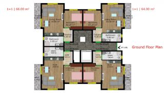 Quality Apartments with Natural Gas in Antalya Turkey, Property Plans-1