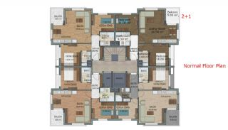 Quality Apartments with Natural Gas in Antalya Turkey, Property Plans-2