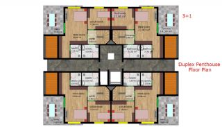 Quality Apartments with Natural Gas in Antalya Turkey, Property Plans-4