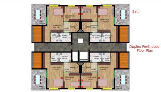 Качественные Квартиры с Системой Газоснабжения в Анталии Турция, Планировка -4
