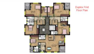 First-Class Apartments in the Modern Complex of Konyaalti, Property Plans-4