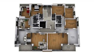 Privileged Kepez Apartments with Separate Kitchen, Property Plans-1