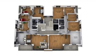 Privileged Kepez Apartments with Separate Kitchen, Property Plans-2