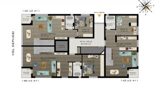 Konyaalti Flats Just 5 Minutes Distance to the Beach, Property Plans-2