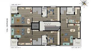 Квартиры в Коньяалты Всего в 5 Минутах от Пляжа, Планировка -4