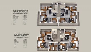 New-Built Apartments with Elegant Design in Kepez, Property Plans-1