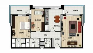 Recently Completed Elegant Flats in Dosemealti Antalya, Property Plans-1