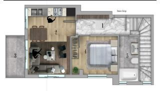 Centrally Apartments with Smart Home System in Antalya, Property Plans-1