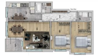 Centrally Apartments with Smart Home System in Antalya, Property Plans-3