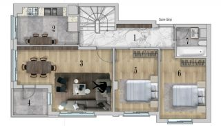 Centrally Apartments with Smart Home System in Antalya, Property Plans-4