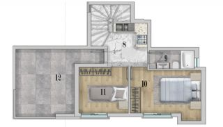 Centrally Apartments with Smart Home System in Antalya, Property Plans-5