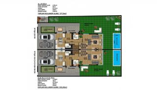 Moderne Villa's met Smart Home Systeem in Kundu, Vloer Plannen-2