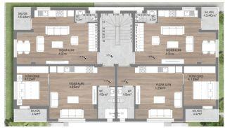 Prestigieuze Appartementen met Rijke Faciliteiten | Antalya, Vloer Plannen-1
