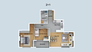Hoogwaardige Appartementen met Smart Technologie in Kepez, Vloer Plannen-4