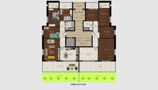 High Quality 2-Floor Twin Houses in Döşemealtı Antalya, Property Plans-1