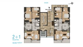 New Apartments with Separate Kitchen in Kepez Antalya, Property Plans-2