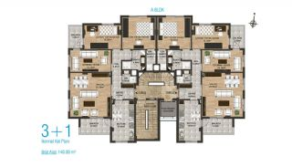 New Apartments with Separate Kitchen in Kepez Antalya, Property Plans-3