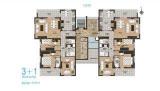 New Apartments with Separate Kitchen in Kepez Antalya, Property Plans-4
