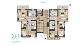 New Apartments with Separate Kitchen in Kepez Antalya, Property Plans-5