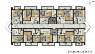 New Apartments with Convenient Design in Konyaalti Antalya, Property Plans-1