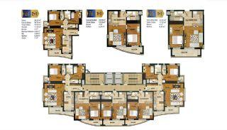 Lägenheter med Utmärkt Naturutsikt i Antalya, Planritningar-1
