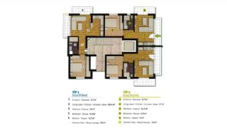 Spacious Flats in Complex with Rich Facilities in Antalya, Property Plans-1