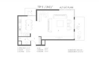 Milieuvriendelijk appartement dicht bij sociale voorzieningen in Antalya, Vloer Plannen-1