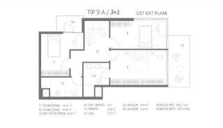 Milieuvriendelijk appartement dicht bij sociale voorzieningen in Antalya, Vloer Plannen-2