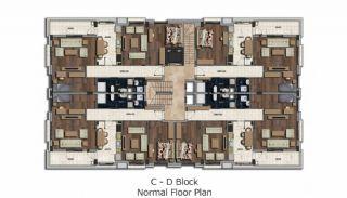 Instapklaar Appartement in een Luxe Complex in Antalya, Vloer Plannen-1