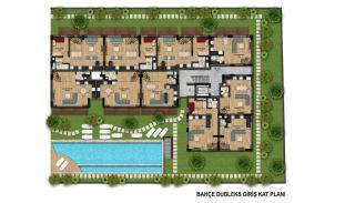 Fantastiska Lägenheter med Bergsutsikt i Konyaalti Antalya, Planritningar-1