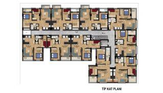 Великолепные Квартиры с Видом на Горы в Коньяалты, Анталия, Планировка -6