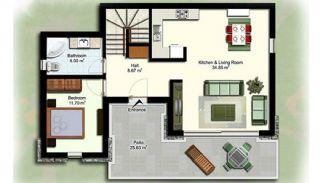 Doppelhaus Villa in Gümüslük, Immobilienplaene-2