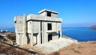 Bodrum'da Deniz Manzaralı Satılık Villa, İnşaat Fotoğrafları-2