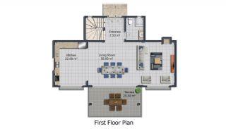 Bodrum'da Deniz Manzaralı Satılık Villa, Kat Planları-2