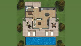 Bodrum'da Satılık Özel Tasarım Villa, Kat Planları-1