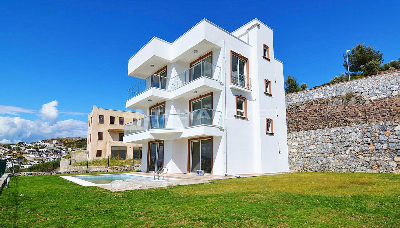 Achat immobilier boddrum tuzla avec vue mer et piscine for Achat maison appartement