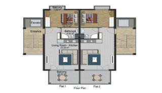 Seafront Apartments for Sale in Bodrum, Property Plans-1