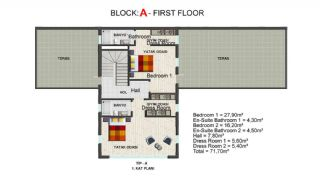 Contemporary Bodrum Villas with Palmarina Vistas, Property Plans-2