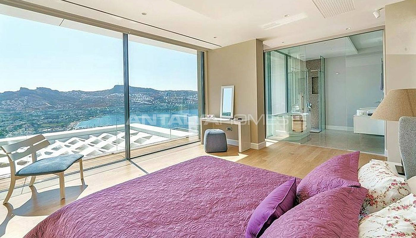 freistehende villen mit eigenem infinity pool in bodrum. Black Bedroom Furniture Sets. Home Design Ideas