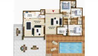 Konacık'ta Site İçinde Modern Tasarım Satılık Villalar, Kat Planları-1