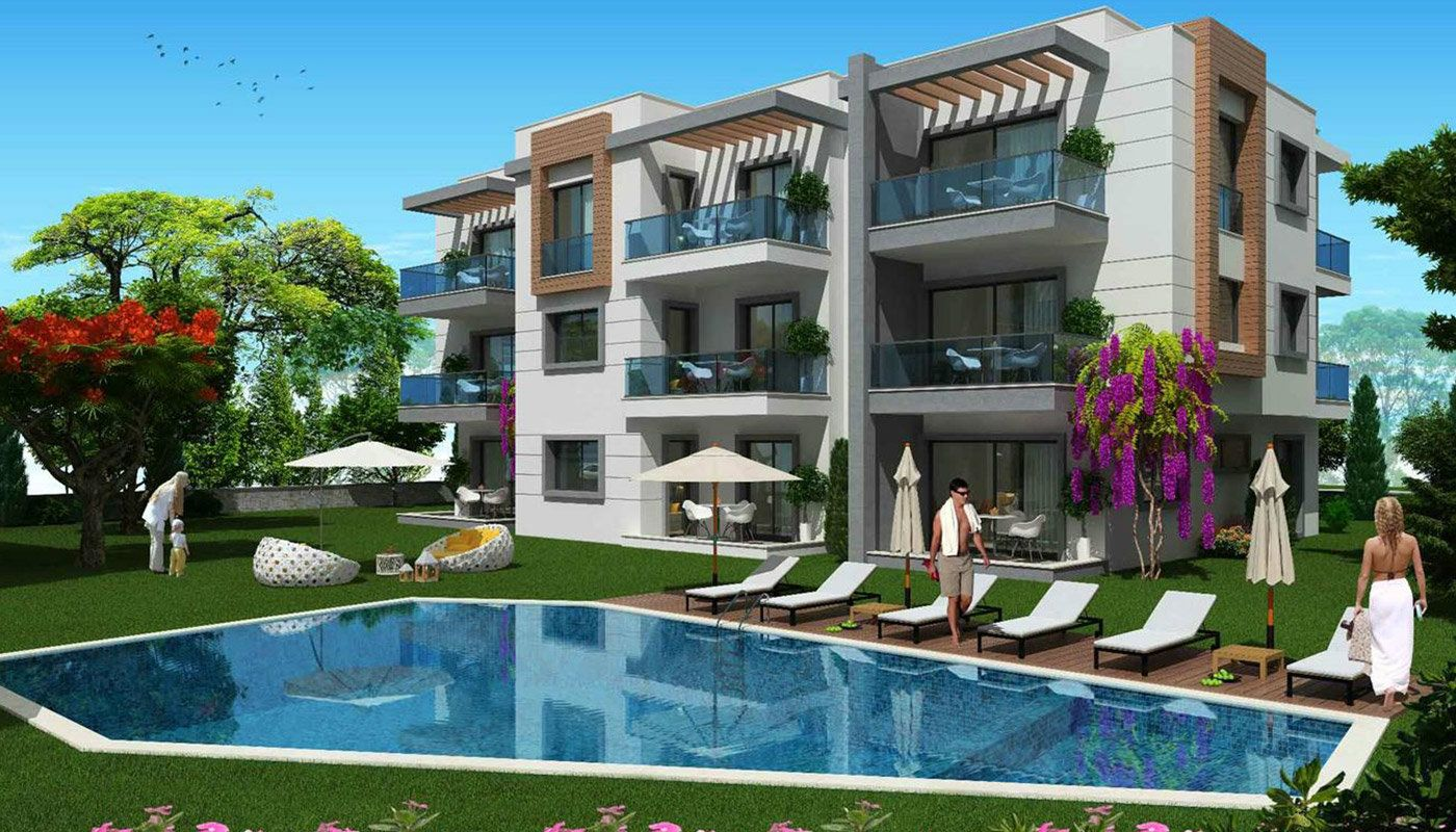 Bodrum Apartments In The Low-Rise Residential Complex