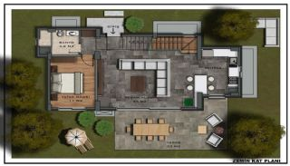 Triplex Villas with Private Pool in Bodrum Ortakent, Property Plans-2